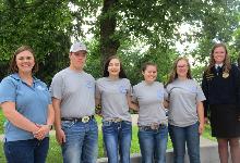 FFA Members at camp.