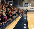 Kurt Roberts talks with Mount Vernon students during Champions of Character Day.