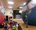 East Elementary students viewing the Earth Dome.