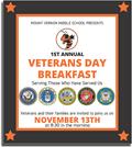 Poster of Veterans Day Breakfast Invitation