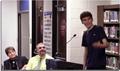 Herbert Meyer addresses the MV Board of Education.