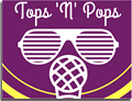 Eyeglasses and microphoneposter for Tops N Pops.