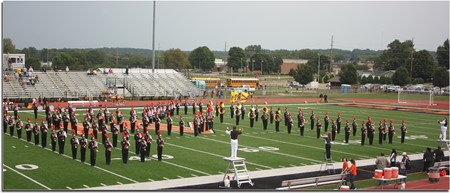 Mount Vernon High School Marching Band performing the Alma Mater.