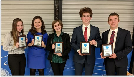 Debate State Qualifiers holding their plaques.
