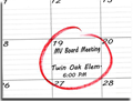Board Meeting Calendar Notification