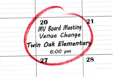Public Notice MVBOE Change of Meeting Venue