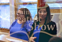 Karly Watterson and Hollie Frackman present Learning is the Greatest Show during the September Board meeting.