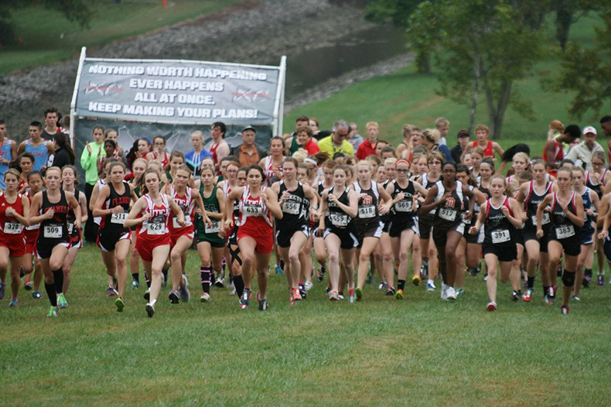 MV Girls Cross Country race.