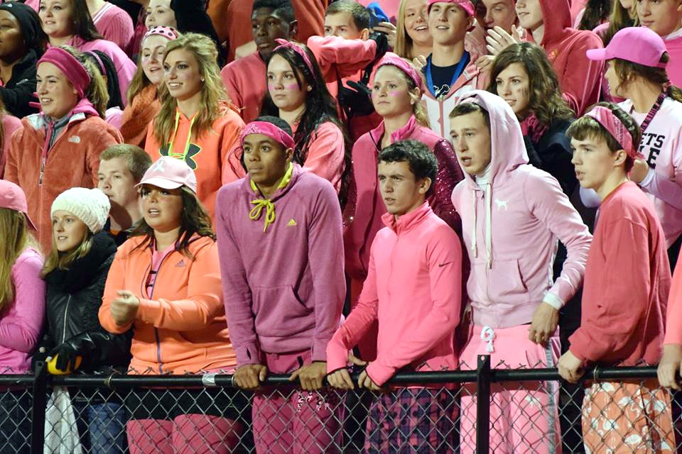 The HIVE during pink out cancer awareness.