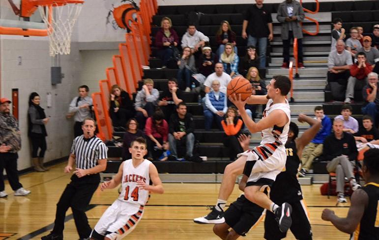Boys Basketball lay up.