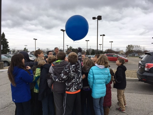 Balloon send off