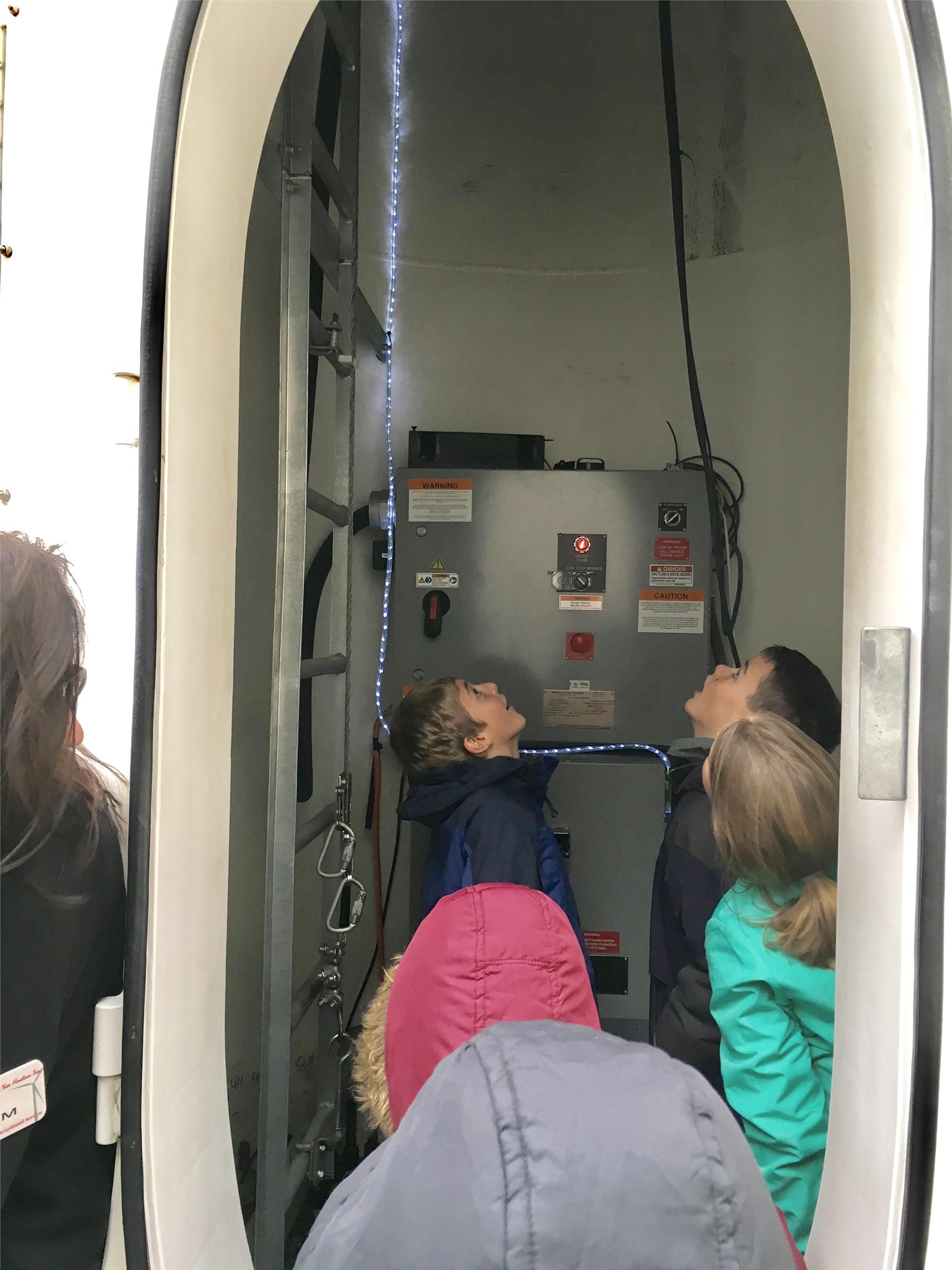 Inside the wind turbine