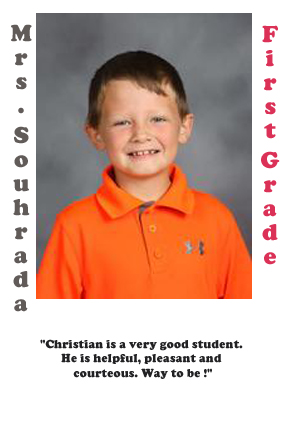 Mrs. Souhrada's September Student of the Month