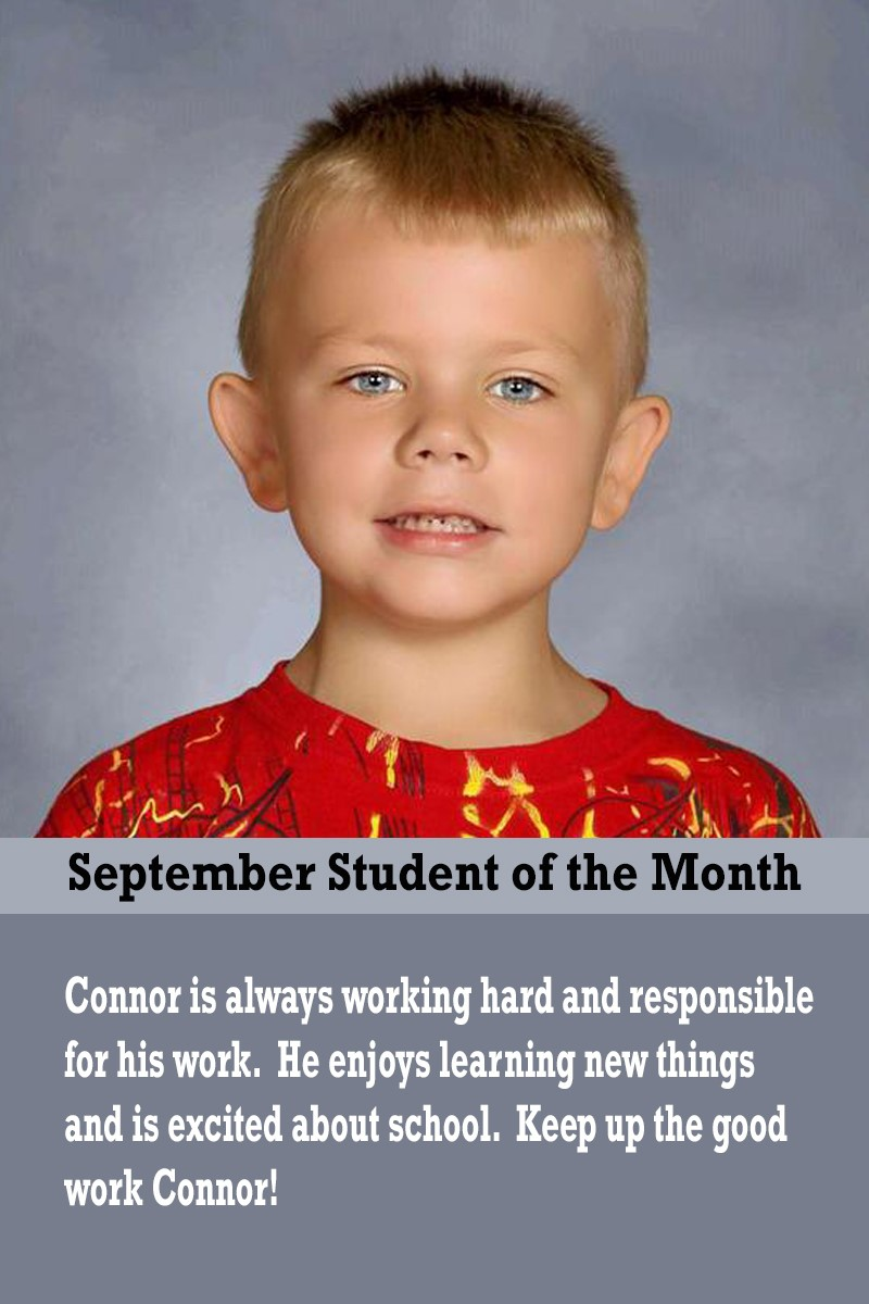 Mrs. Brown's September Student of the Month