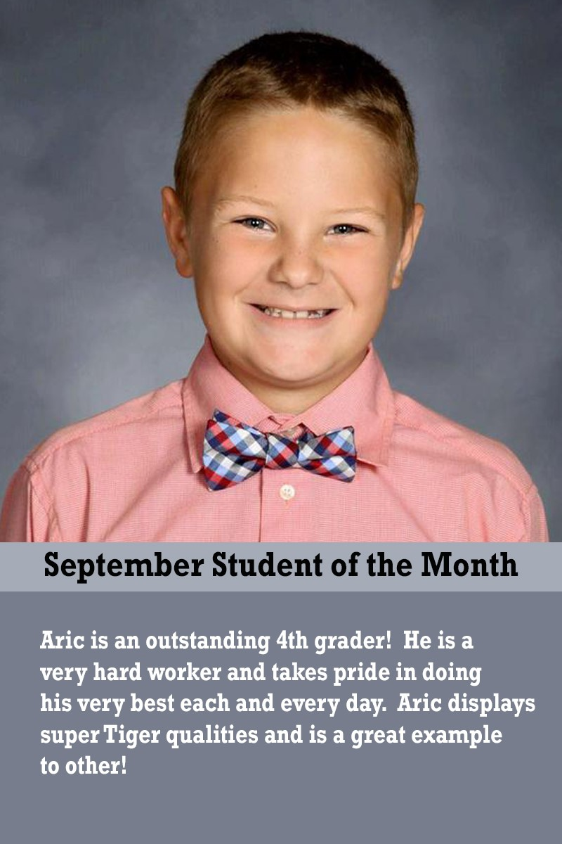 Mrs. Thomas' September Student of the Month