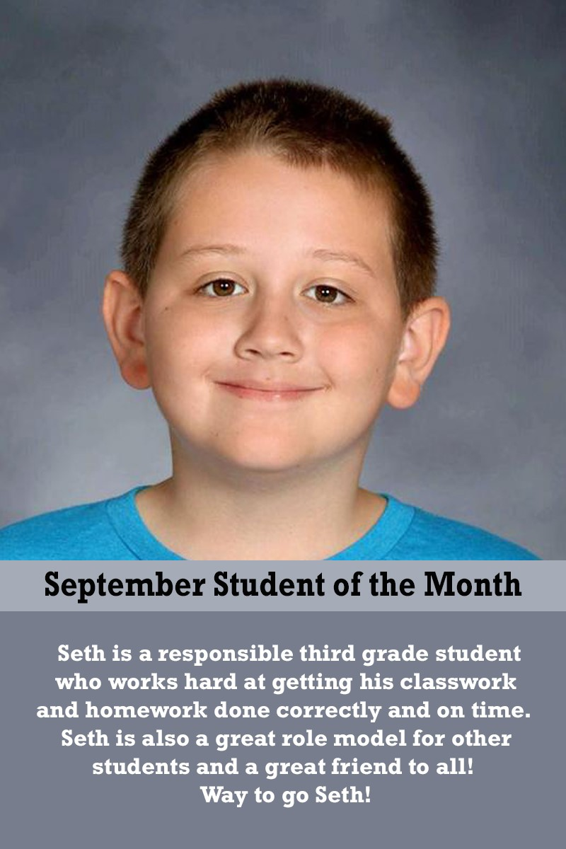 Mrs. Luna's September Student of the Month