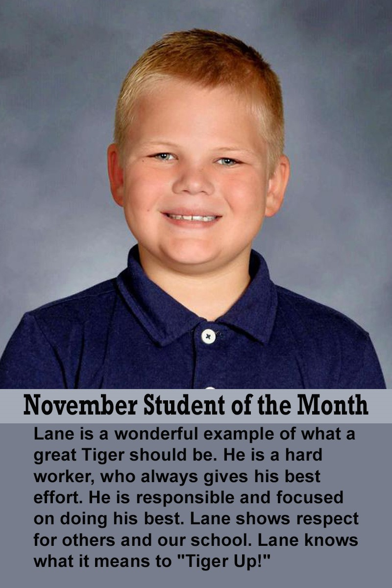 Mrs. Atkinson's November Student of the Month
