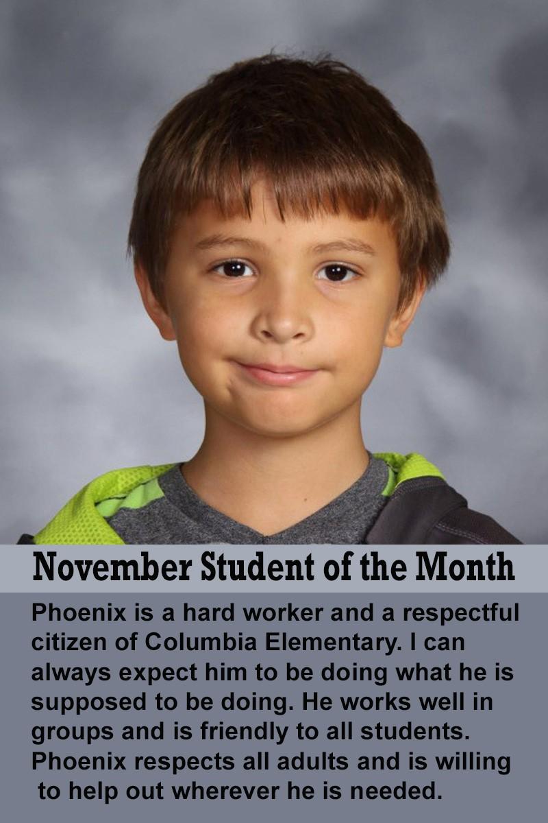 Mrs. Ferguson's November Student of the Month