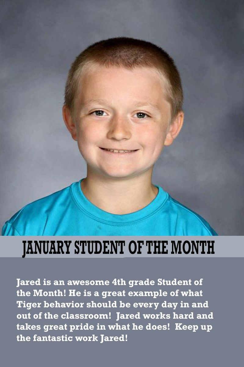 Mrs. Thomas's January Student of the Month