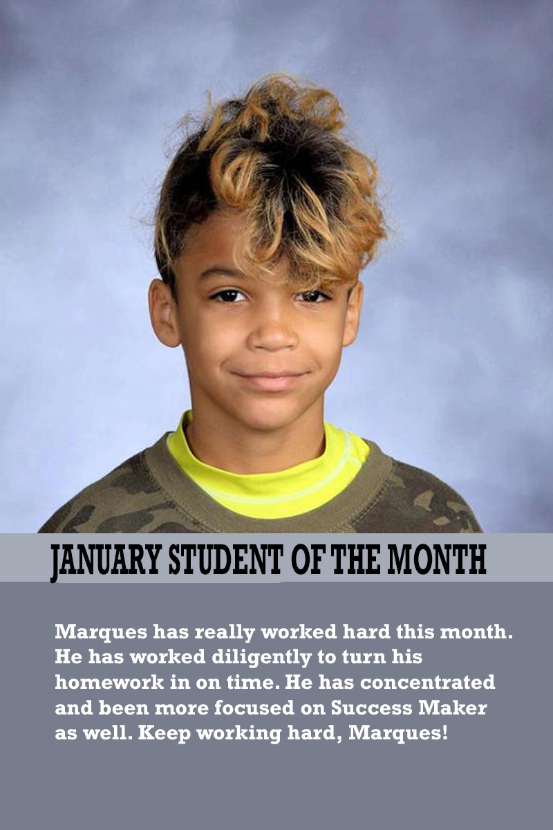 Mrs. Atkinson's January Student of the Month