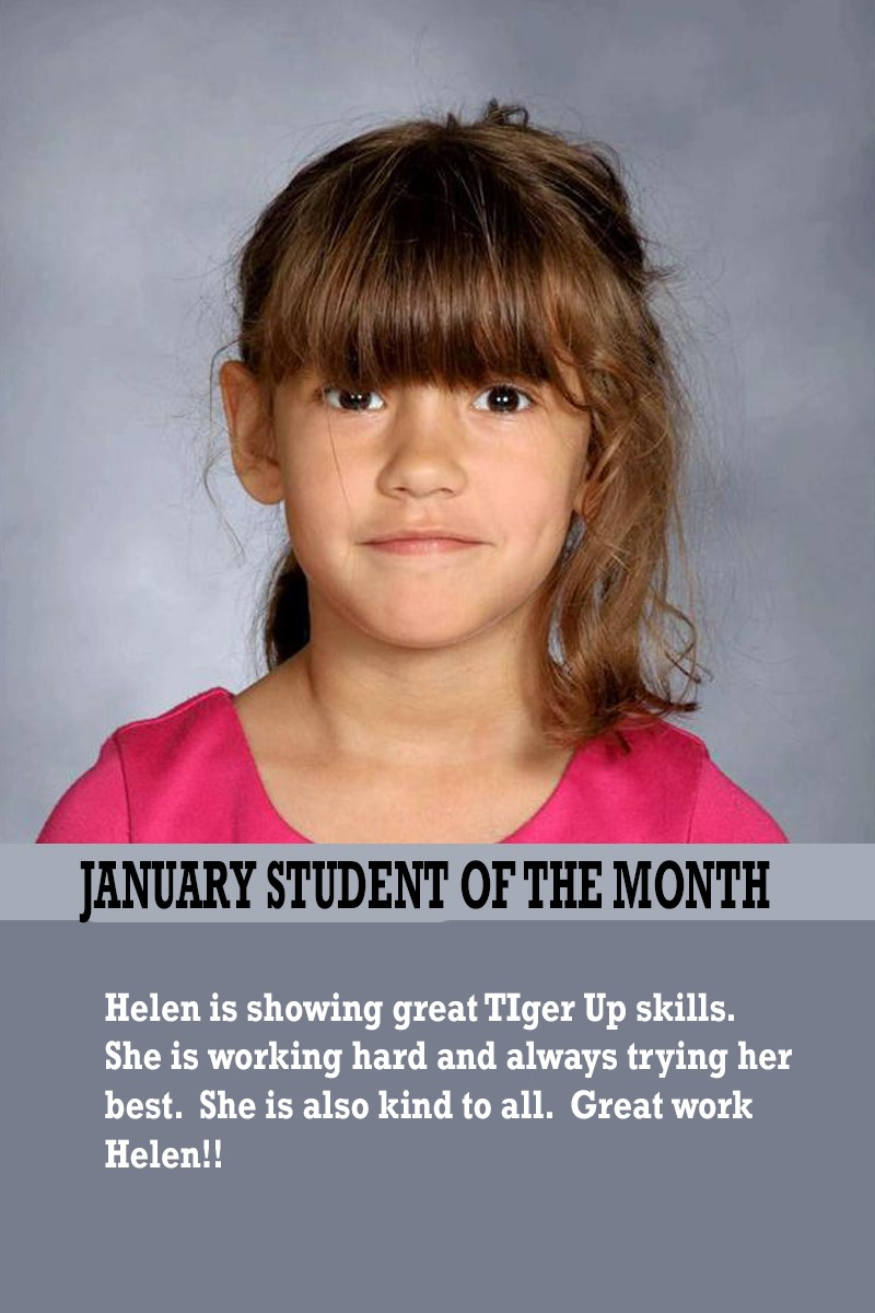 Mrs. Humphrey's January Student of the Month
