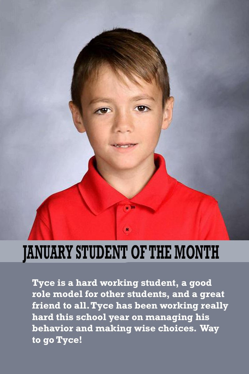 Mrs. Luna's January Student of the Month