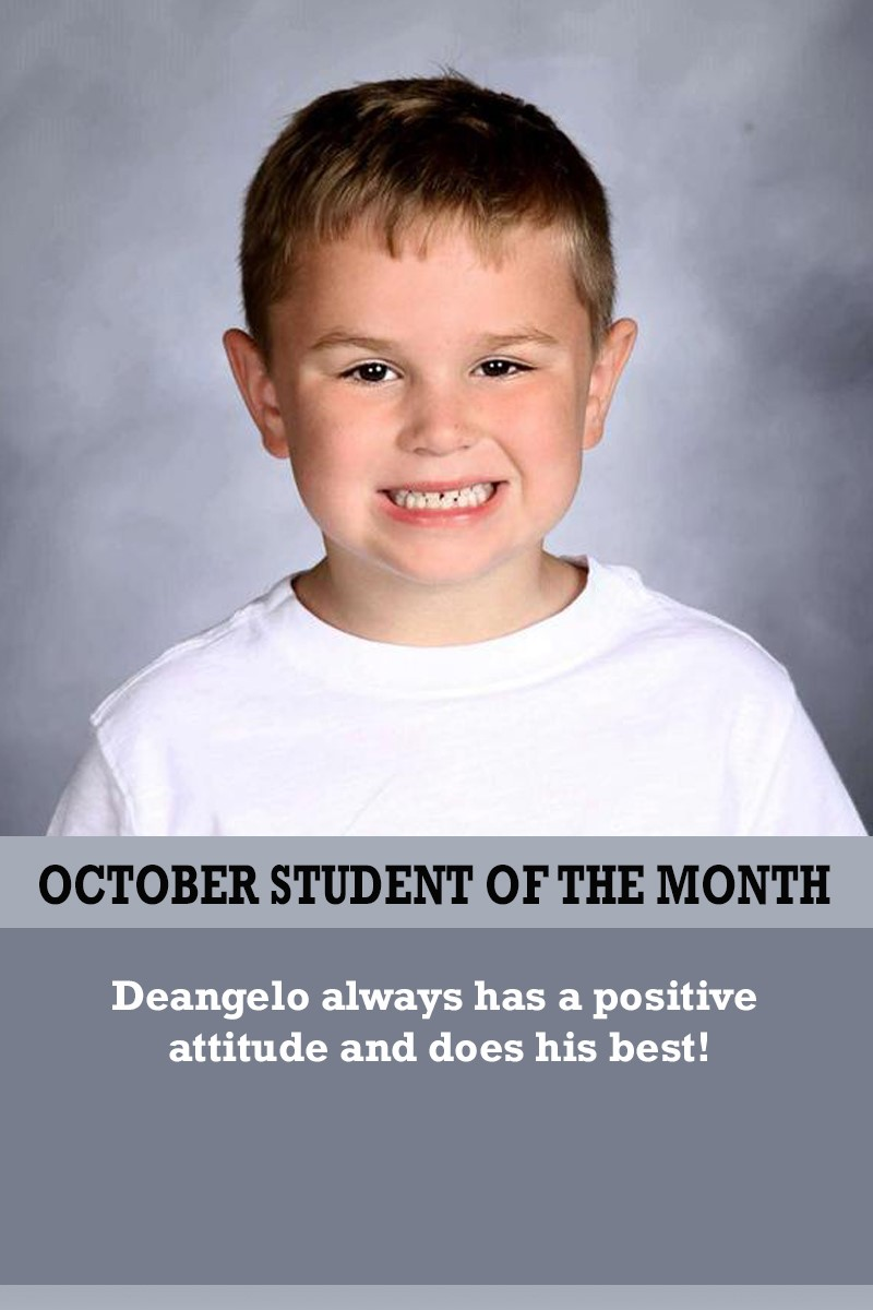 Mrs. Ewers' October Student of the Month