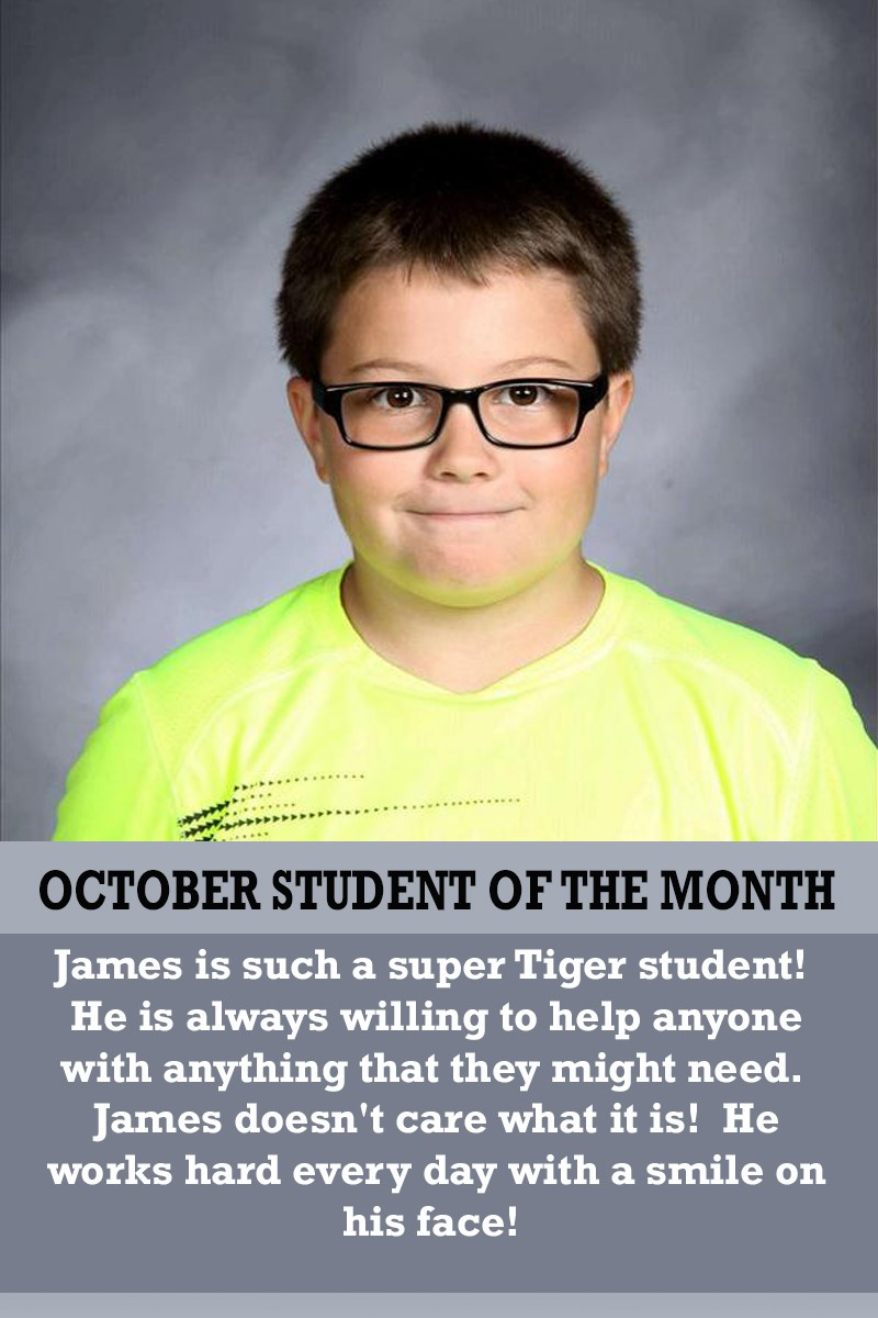 Mrs. Thomas' October Student of the Month