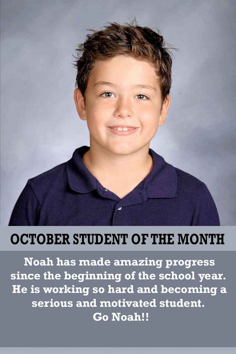 Mrs. Humphrey's October Student of the Month