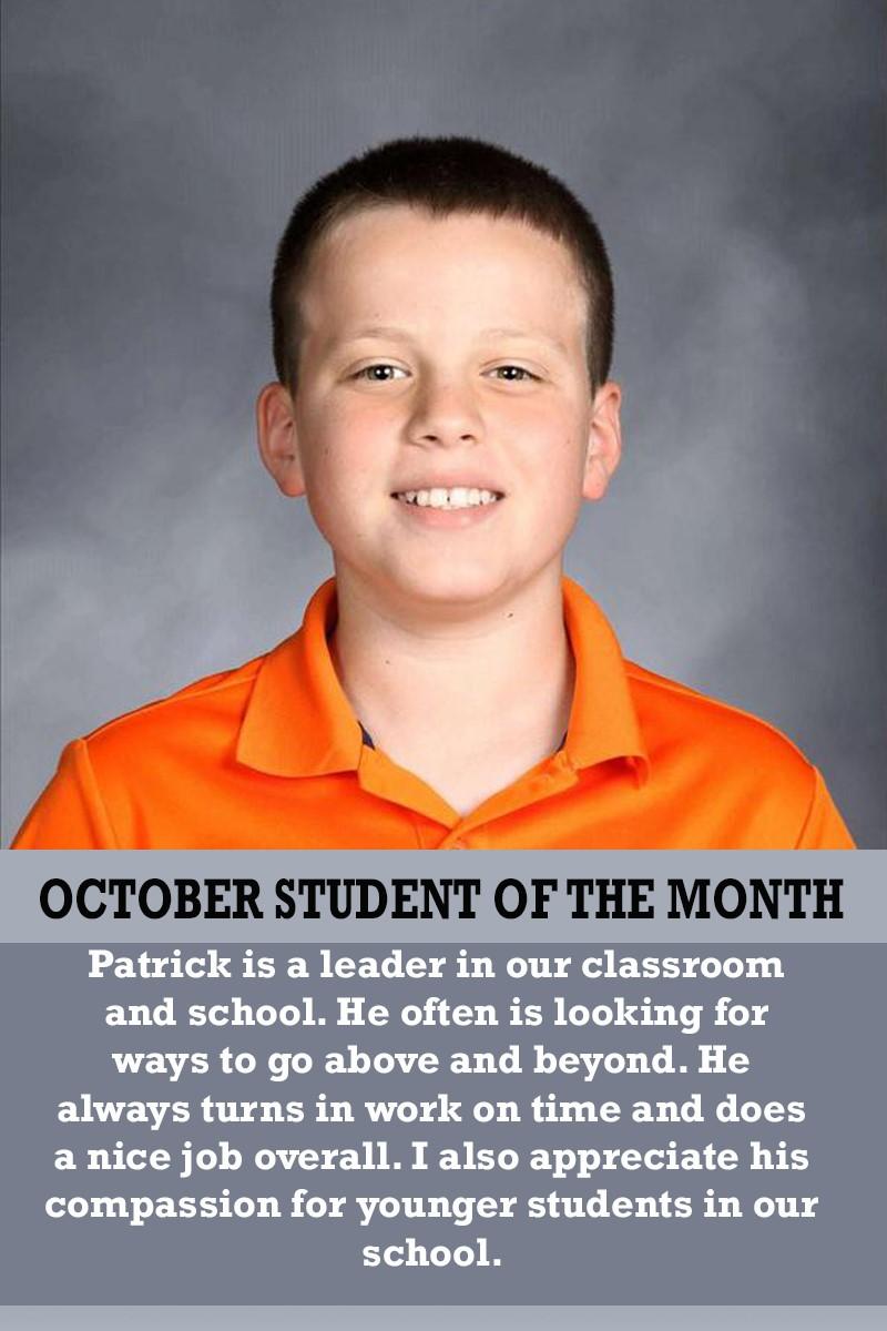 Mrs. Ferguson's October Student of the Month