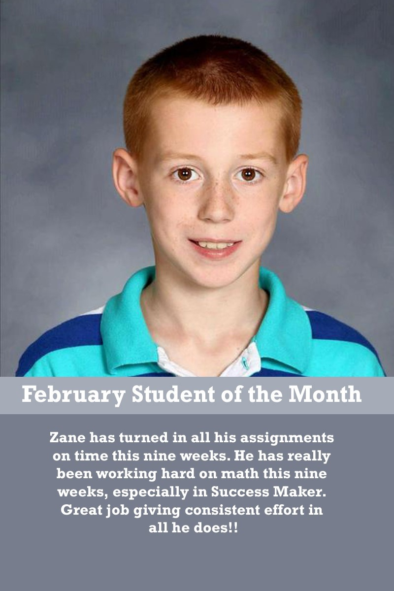 Mrs. Atkinson's February Student of the Month