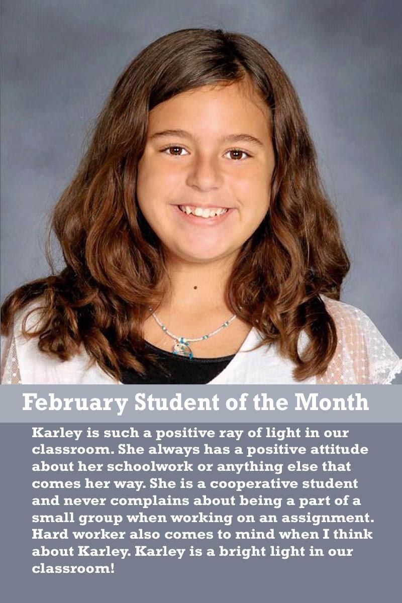 Mrs. Ferguson's February Student of the Month