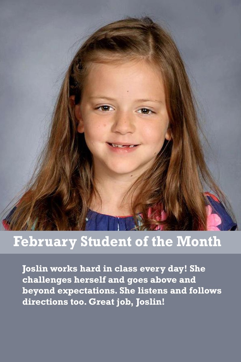 Ms. Suarez's February Student of the Month
