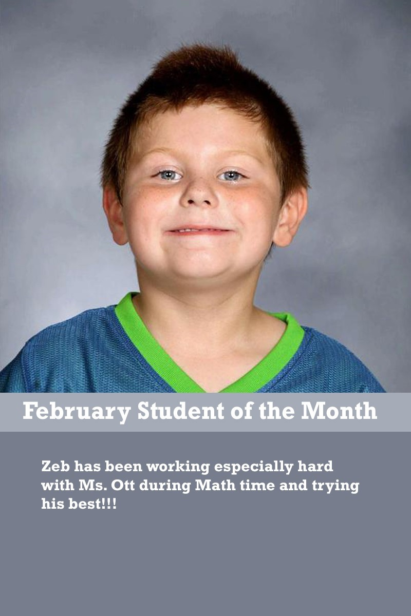 Mrs. Ewers' February Student of the Month