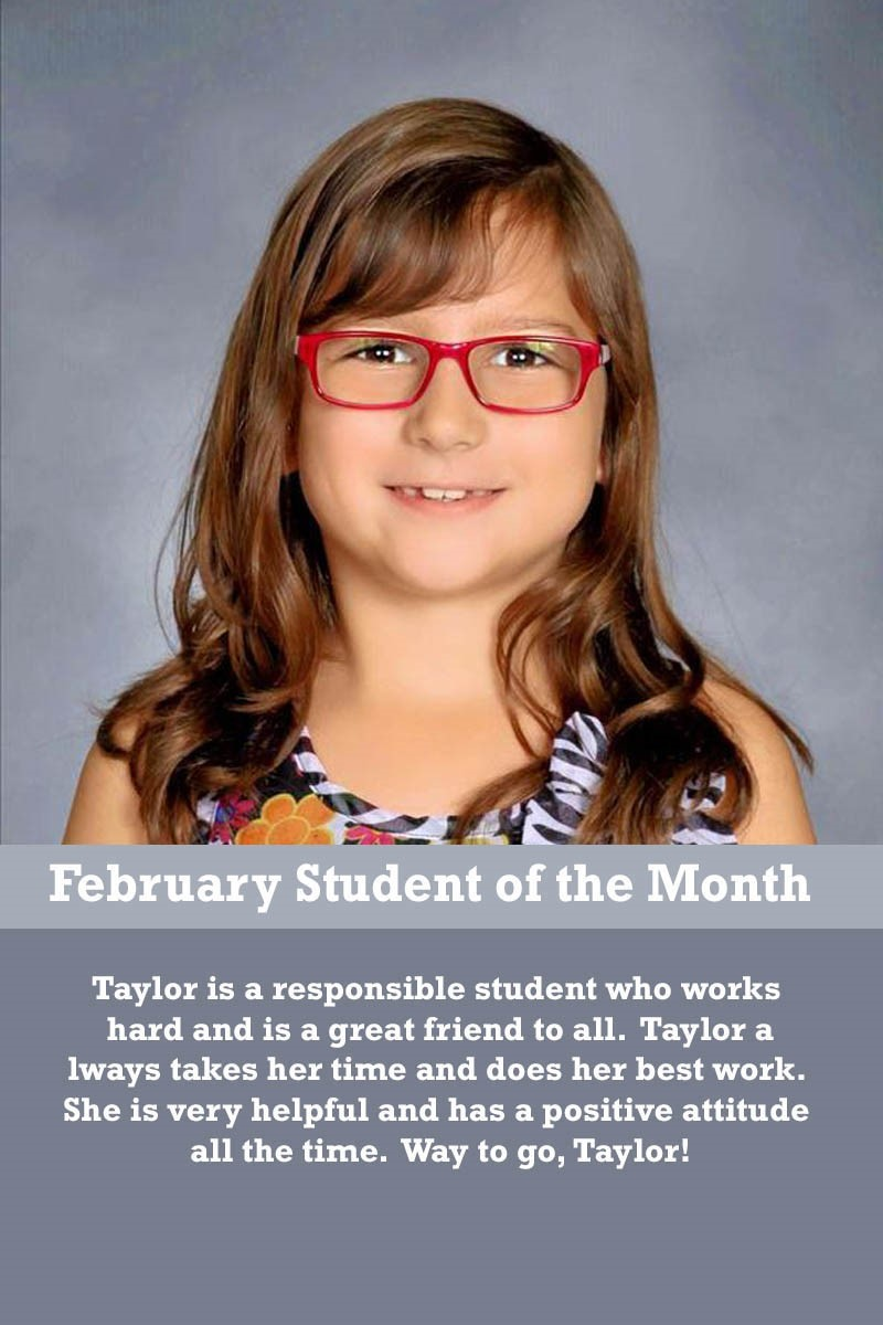 Mrs. Luna's February Student of the Month