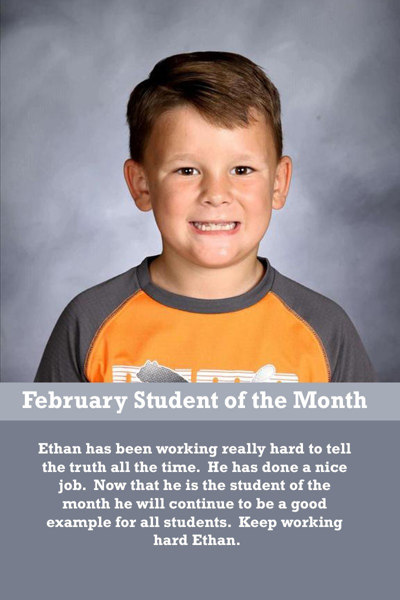 Mrs. Humphrey's February Student of the Month
