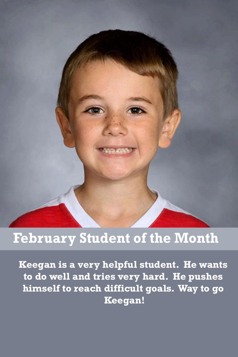 Mrs. Souhrada's February Student of the Month