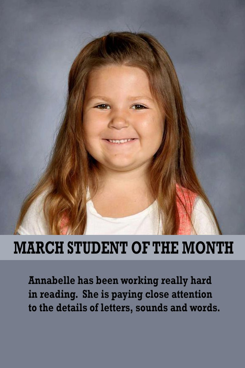 Mrs. Gregory's March Student of the Month