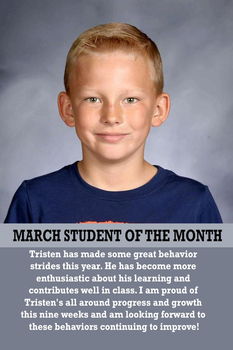 Mrs. Ferguson's March Student of the Month