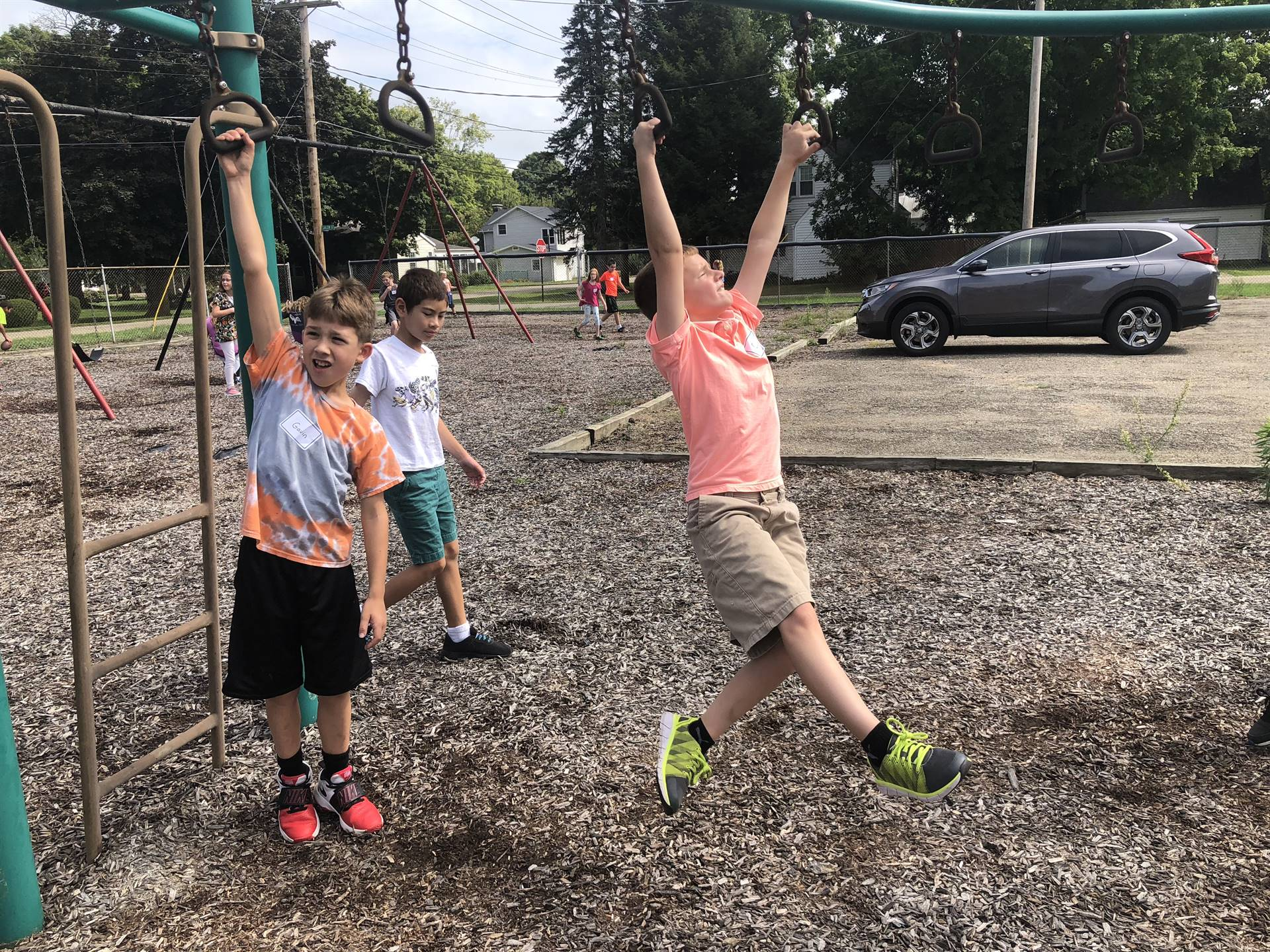 Students enjoying recess.