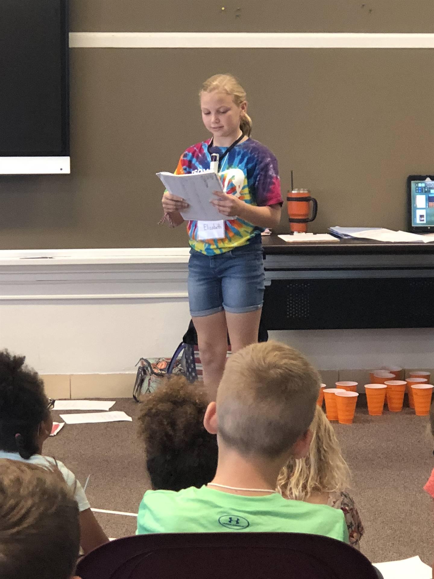 student poetry reading