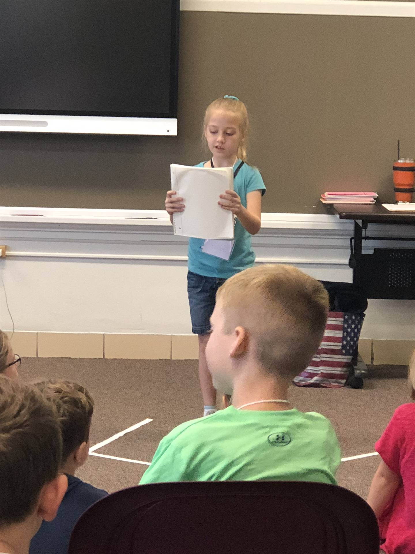 student poetry reading