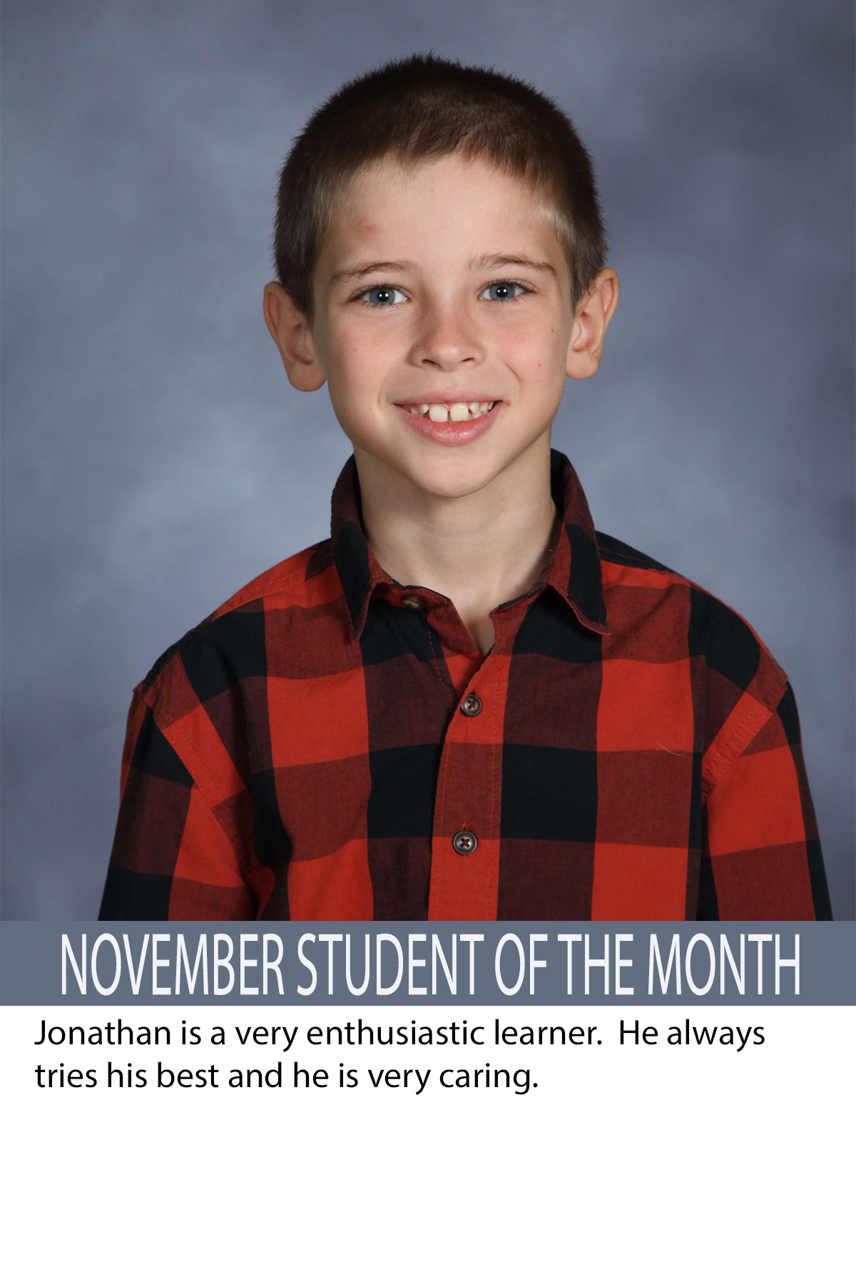 Mrs. Humphrey's November Student of the Month