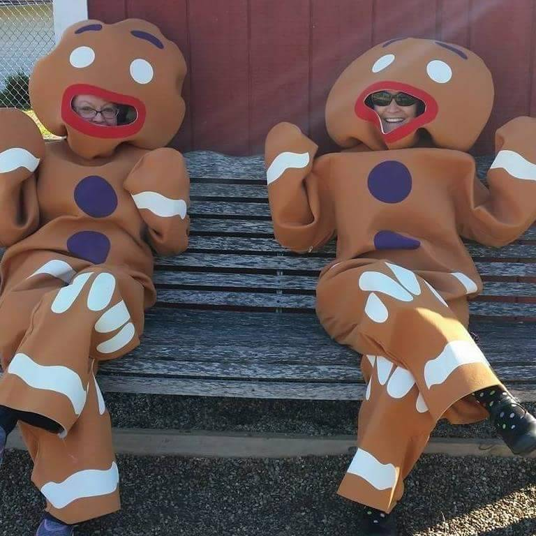 gingerbread men come to visit