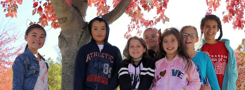 Twin Oak students enjoying the fall colors.