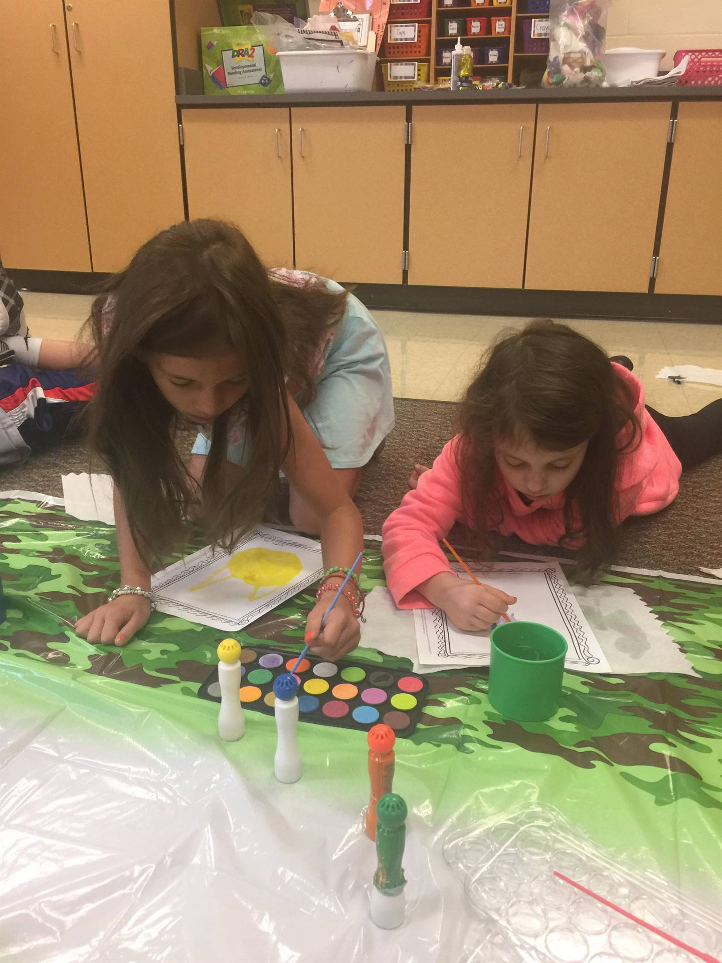 Students working on their dots for International Dot Day