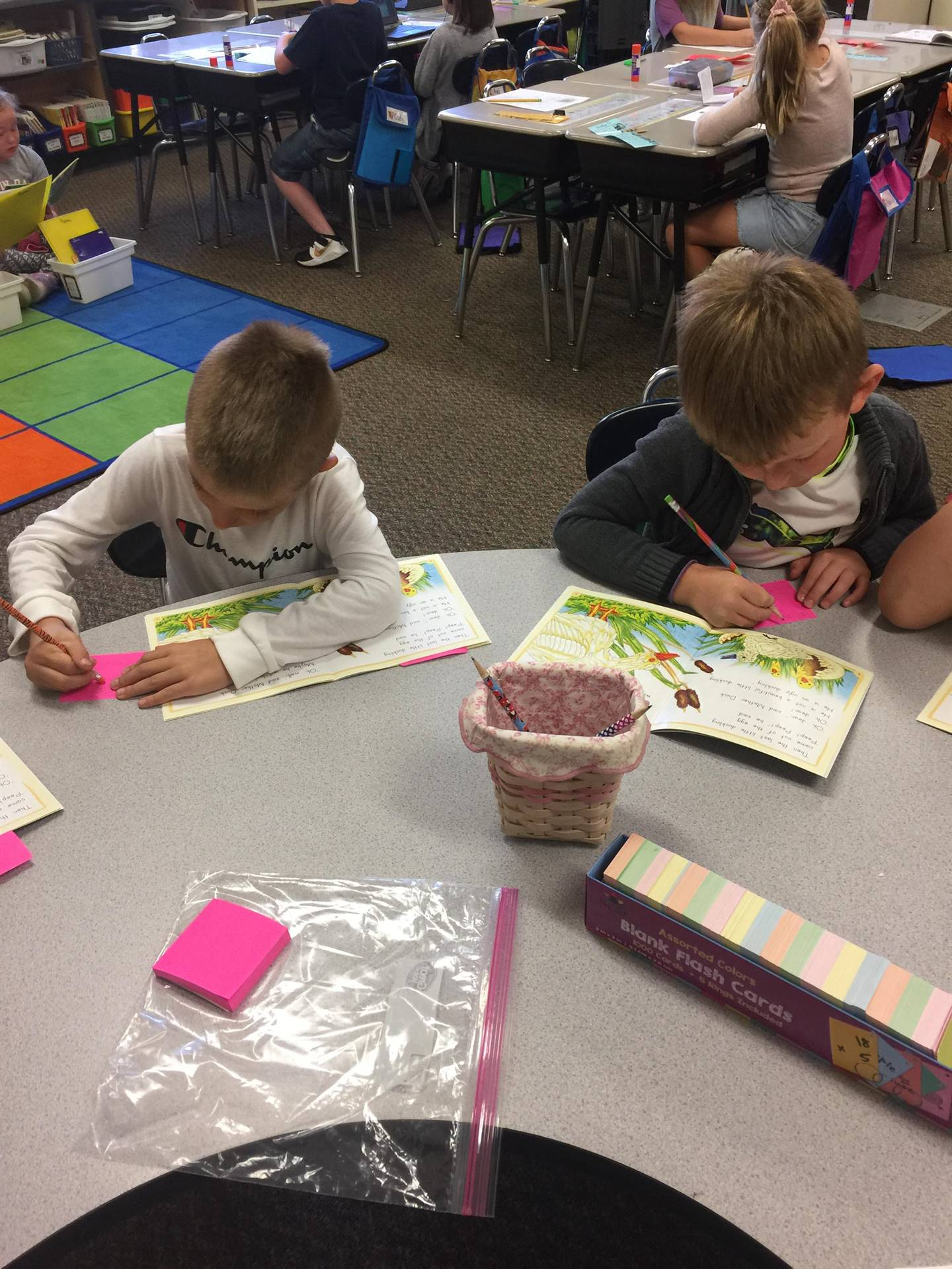 "Working on ""Stop and Jots"" in reading group"