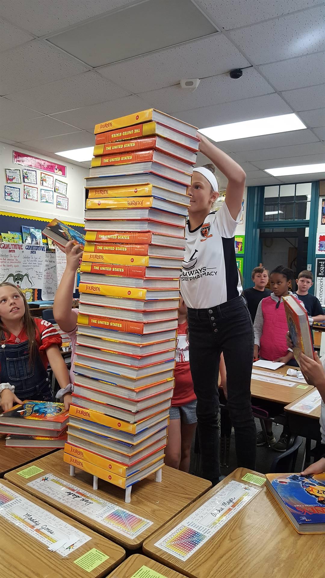 Stacking Books Challenge
