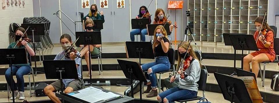 High School Orchestra class