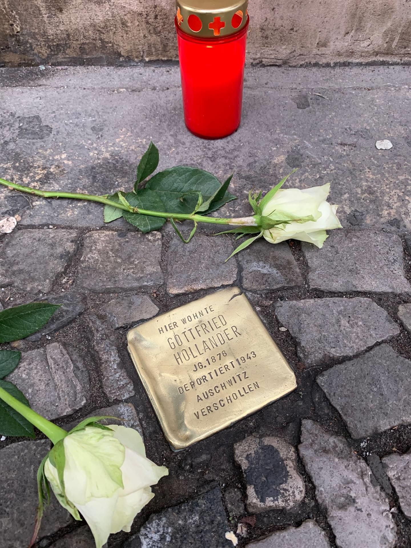 Memorials on the streets of Berlin